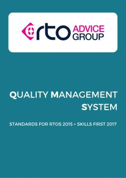 QMS Standards for RTOs 2015+Skills first 2017