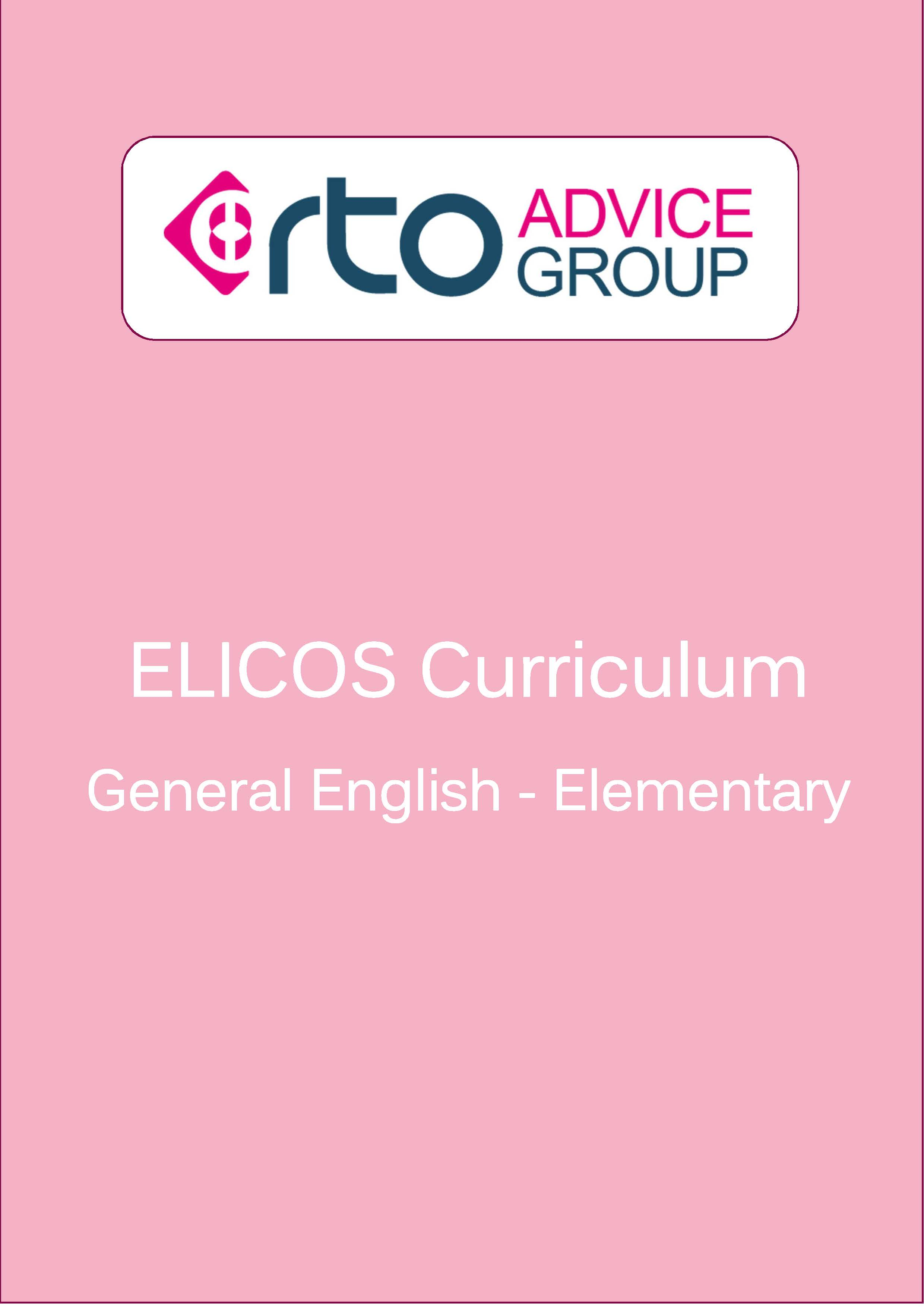 ELICOS Curriculum – General English Elementary