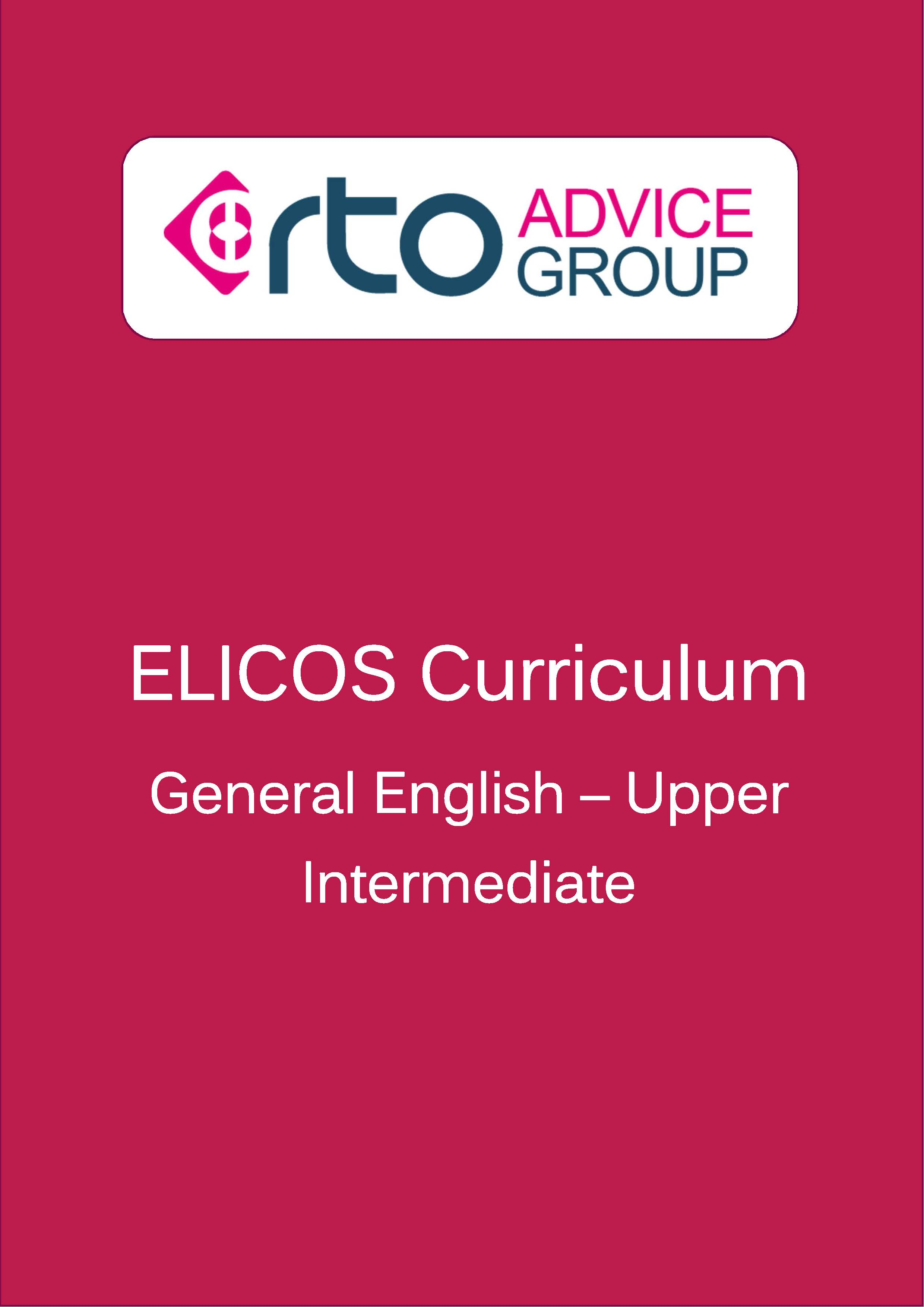 ELICOS Curriculum – General English Upper Intermediate